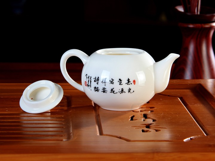 手绘手指牡丹功夫茶具